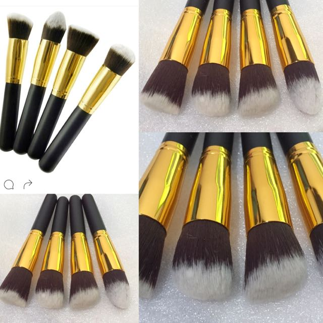 4 GOLD BRUSH (REAL PHOTO)