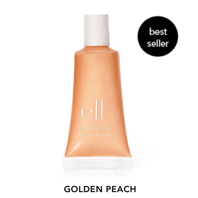 現貨 Javi-#1207 ELF 臉部身體潤色打亮液 蜜桃金Shimmering Facial Whip-Goledn Peach