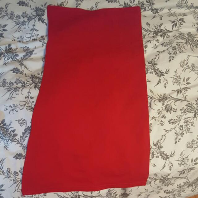 American Apparel Red Tube Dress