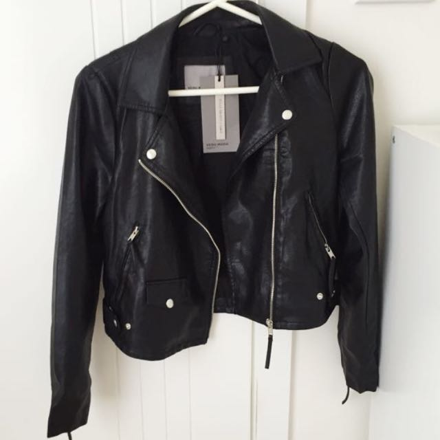 Black Leather Jacket XS