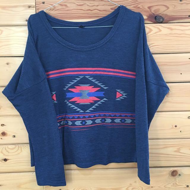 Blue Tribal Top