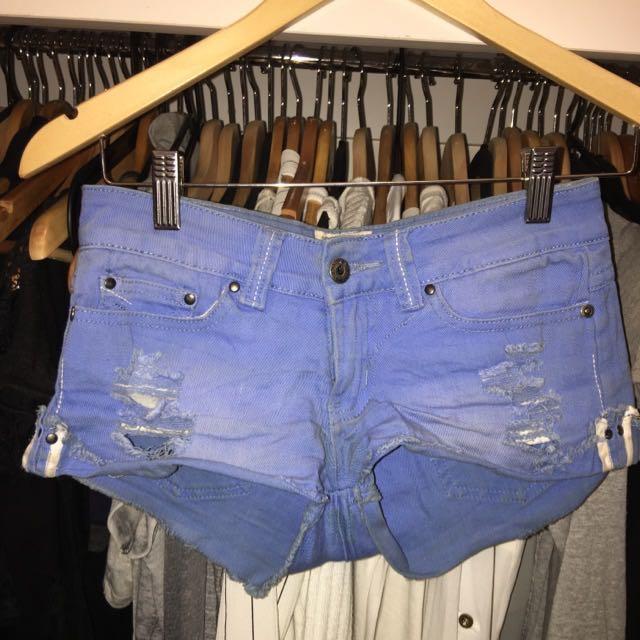 Bright Blue Denim Shorts