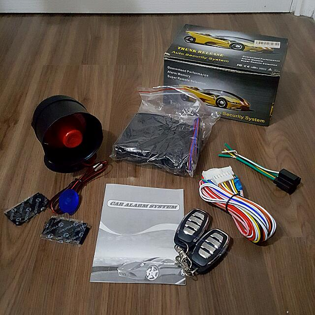 Car Security Alarm System With Trunk Release