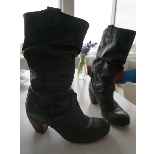 Charcoal Boots - Size 40