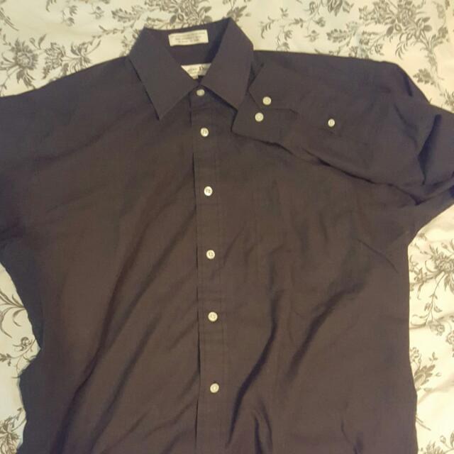 Charcoal Grey Christian Dior Chemise Shirt 15 1/2