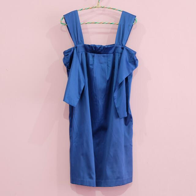 CHIC SIMPLE Blue sexy dress