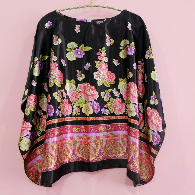 Colourful flower pattern blouse MAGNOLIA