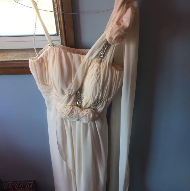 Cream nude coloured formal dress