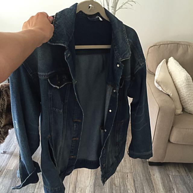 Free People Boyfriend Denim Jacket