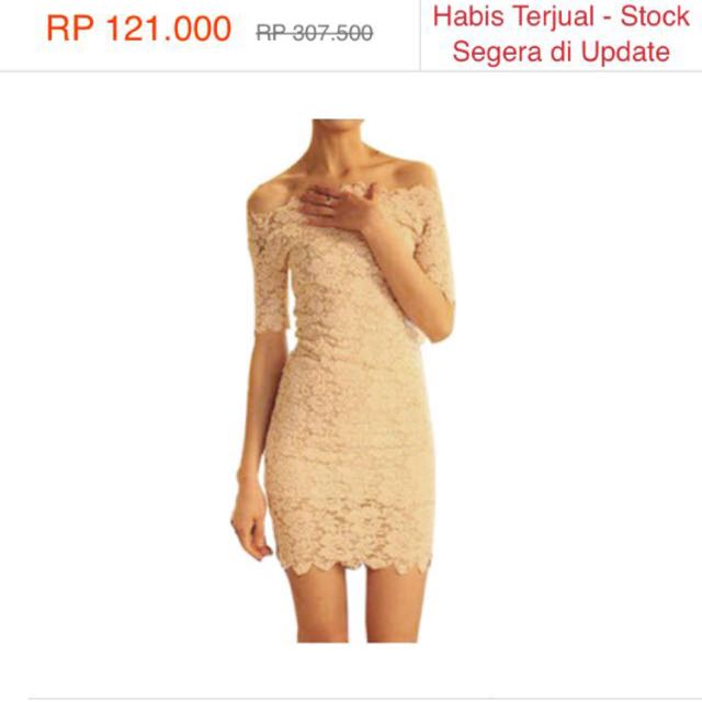 Lace Off Shoulder Mini Dress