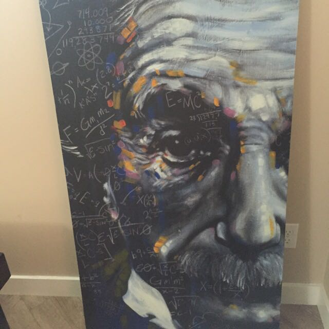 Large Albert Einstein Print