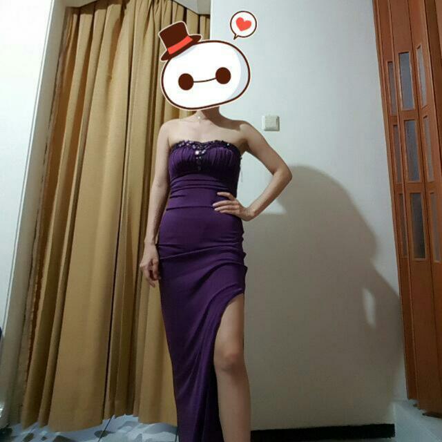 Lipsy Purple Slit Dress