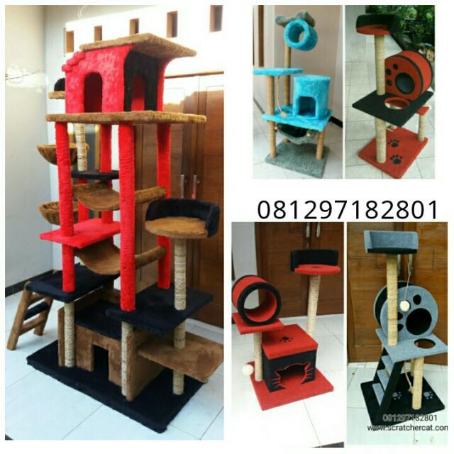mainan kucing/cat condo/cat scratcher/cat tree/cat toy/mainan kucing
