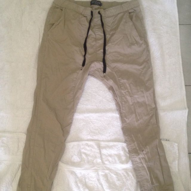Mens Chinos cream beige pants jeans size 36
