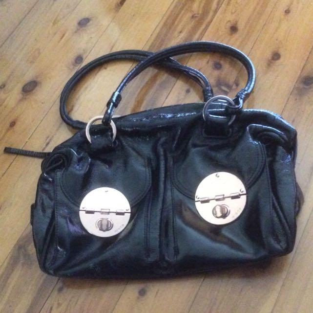 MIMCO BLACK BAG, 🌹 GOLD TURNLOCKS