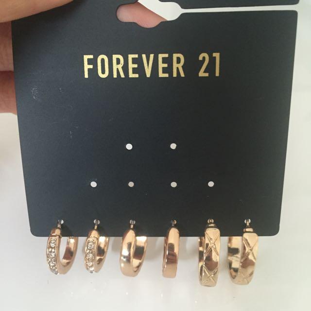 New F21 Gold Earrings