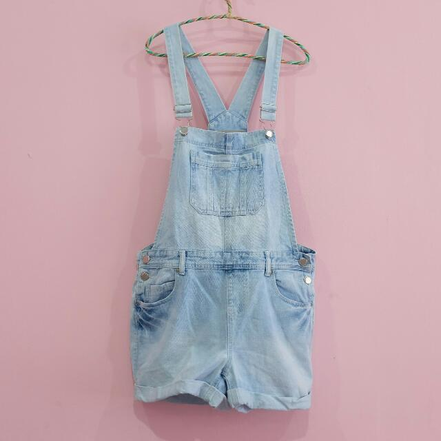 NEW LOOK - short overall jeans
