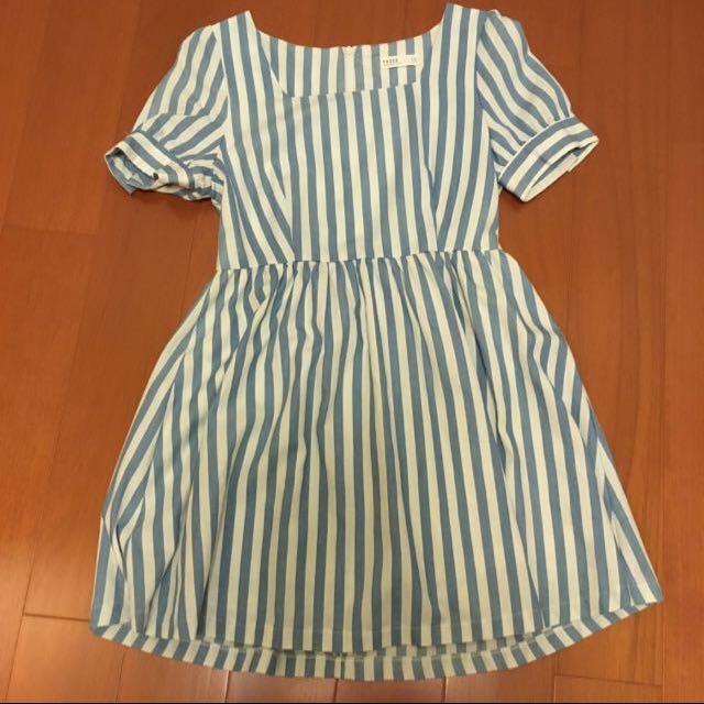 Pazzo 藍白條紋洋裝
