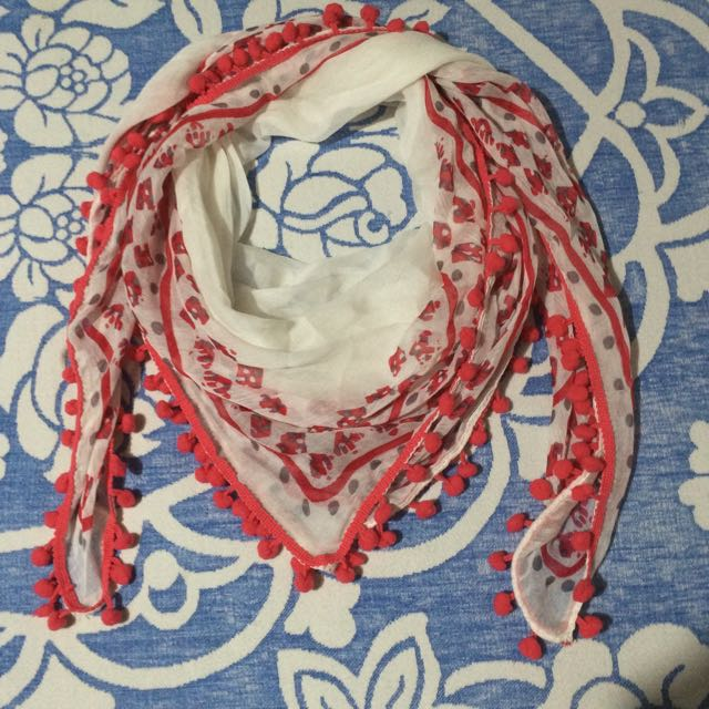 Pinky Red Square Scarf