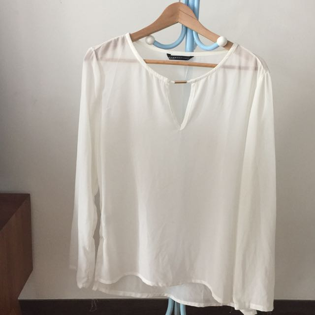 Preloved Women White Top