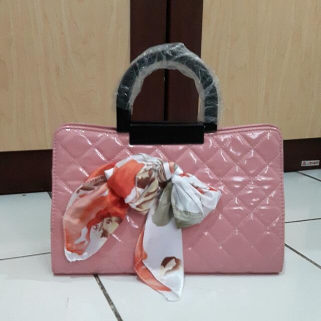 Ribbon Pink Bag
