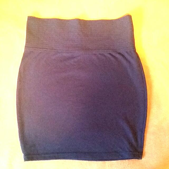 Royal Blue High Waisted Skirt: Small