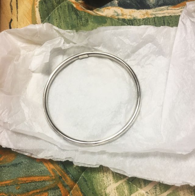 Sterling Silver Hollow Bangle 7.cm Wide