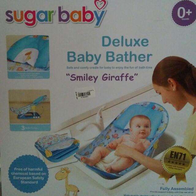 "Sugar Baby Deluxe Baby Bather ""Smiley Giraffe"""