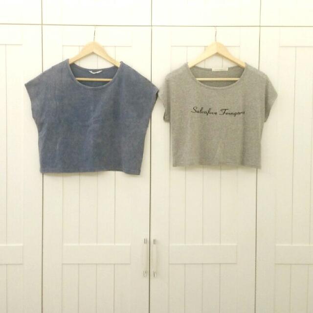 短版罩衫/短版T