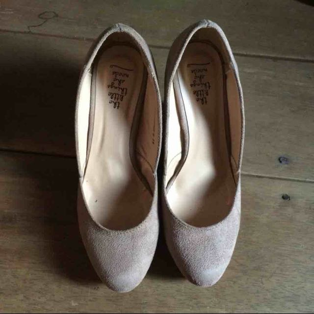 TLTSN Wedges Nude