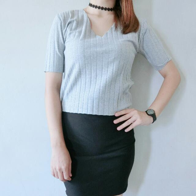 Top V-neck Knit Import