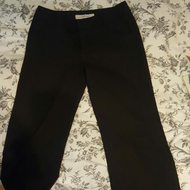 Zara Basic Fall/Winter Work Pants Dark Grey Size 4