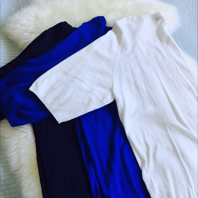 Zara Knit #white #blue #navy