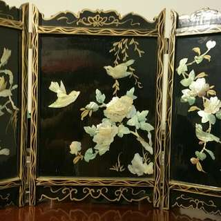 3 Panel Table Top Asian Screen