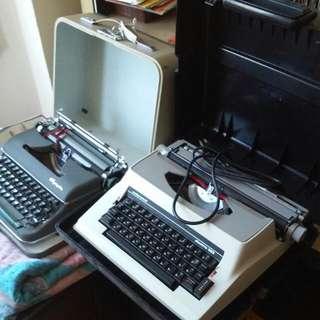 two vintage typewriters