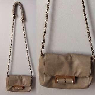 Ivanka Trump Gold Crossbody bag