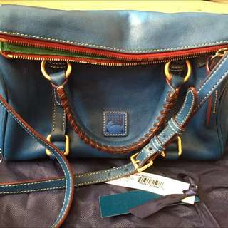 Dooney & Buorke Mini Satchel Ocean Blue