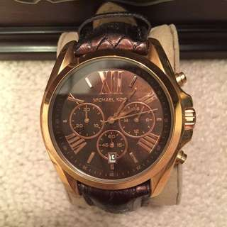 Michaels Kors Leather Band Watch