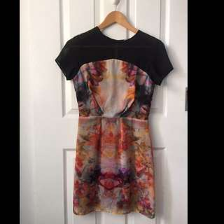 ASOS Geo Floral Sheer Top Dress