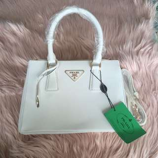 Prada Saffiano White (Mini)