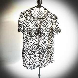 Aztec Chiffon Shirt