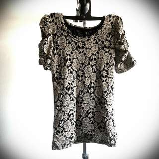Lace Flowery Top