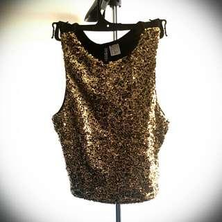 Gold Sequins Top