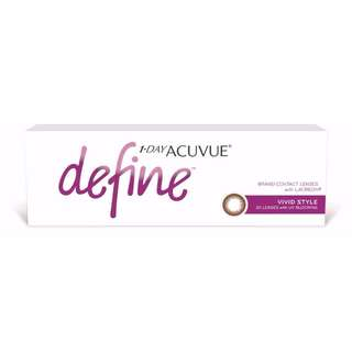 [BNIB] 1-DAY ACUVUE DEFINE VIVID CONTACT LENSES, 30/BOX, POWER: 0