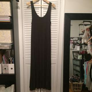 H&M Olive Loose Fit Maxi Dress Size S