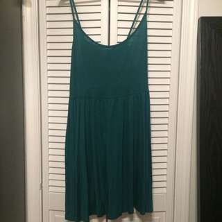 H&M Hunter Green Swing Dress Size L