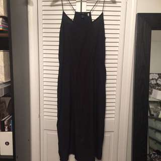 H&M Black Midi Dress Size 14