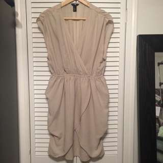 H&M Beige Tulip Dress Size 10