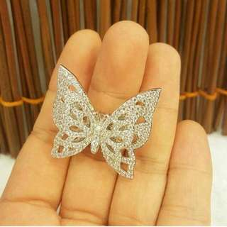Cincin Butterfly Swarovski