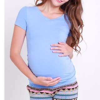 BN Jump Eat Cry Maternity V Neck Top
